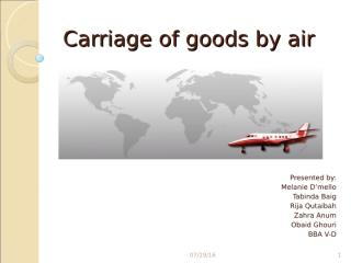 Carriage of goods by air.ppt