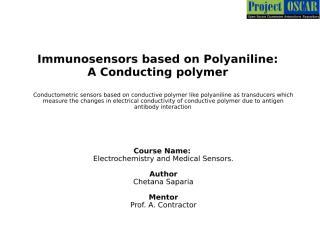 SCH08_1P0399Immunosensors based on Polyaniline- A Conducting polymer.ppt