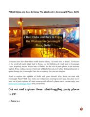 7 Best Clubs and Bars to Enjoy The Weekend in Connaught Place, Delhi.pdf