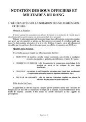 NOTATION DES SOUS OFFICIERS ET MILITAIRES DU RANG.doc