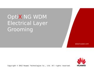 OTC107402 OptiX NG WDM Electrical Layer Grooming ISSUE1.08.ppt