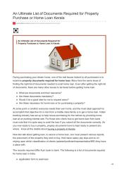 An Ultimate List of Documents Required for Property Purchase or Home Loan Kerala (1).pdf