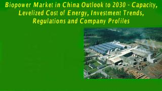 Biopower Market in China Outlook to 2030 - Capacity Levelized Cost of Energy Investment Trends Regulations and Company Profiles.PDF