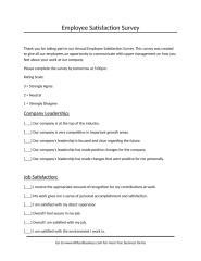 Employee satisfaction Survey.doc
