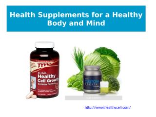 Health Supplements for a Healthy Body and Mind.pptx
