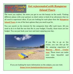 Get rejuvenated with Kangaroo Island Tours.pdf