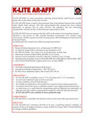 Datasheet-UL - K LITE  AR-AFFF-3x6  3x3.pdf