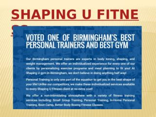Shaping U Fitness - Private Fitness Coaching for Couples.pptx