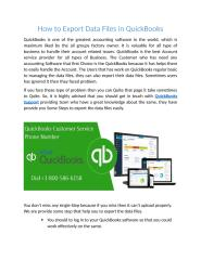 How to Export Data Files in QuickBooks.docx