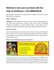 Method_to_Get_Lost_Love_Back_with_the_help_of_Vashikaran.PDF