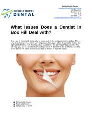 What Issues Does a Dentist in Box Hill Deal with.docx