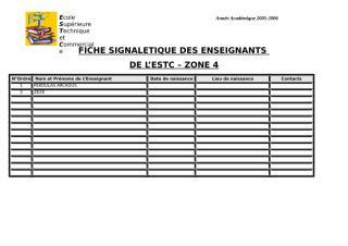 FICHE SIGNALETIQUE DES ENSEIGNANTSESTC-ZONE 4.doc