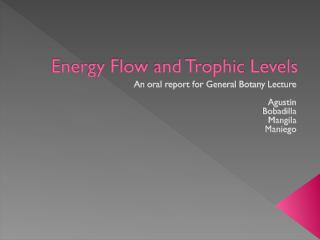 Energy Flow and Trophic Levels.ppt