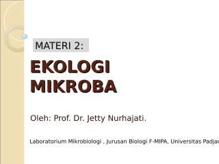 Materi 2.PA. Ekologi Mikroba .ppt